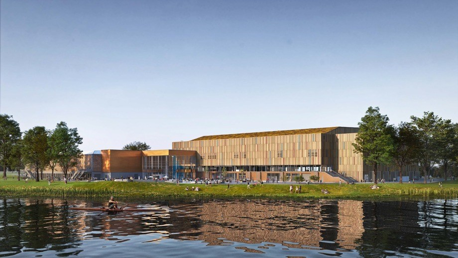 An illustration of the new Nidaroe Hall at Trondheim Spektrum. Image: Inbovi AS.