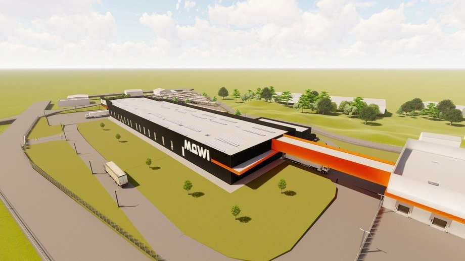 Work on Mowi's new plant will begin at the end of this year. Image: Mowi.