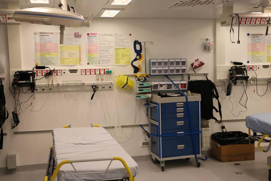 <p>Fra hospitalet om bord. Foto: Helge Martin Markussen</p>