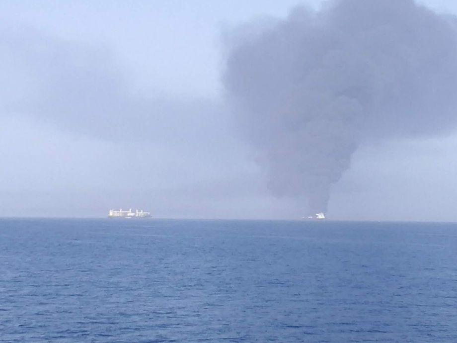 Bildet skal vise «Front Altair» som står i brann