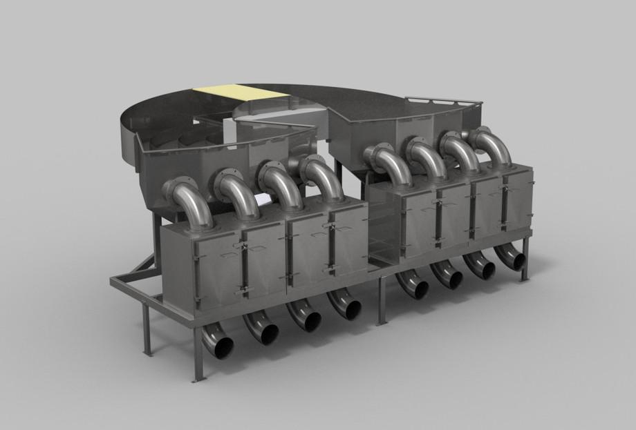 Sistema mecánico SFI, que se basa en el lavado con agua de mar limpia a temperatura ambiente para eliminar los piojos de los salmónidos suavemente. Foto: Cermaq.