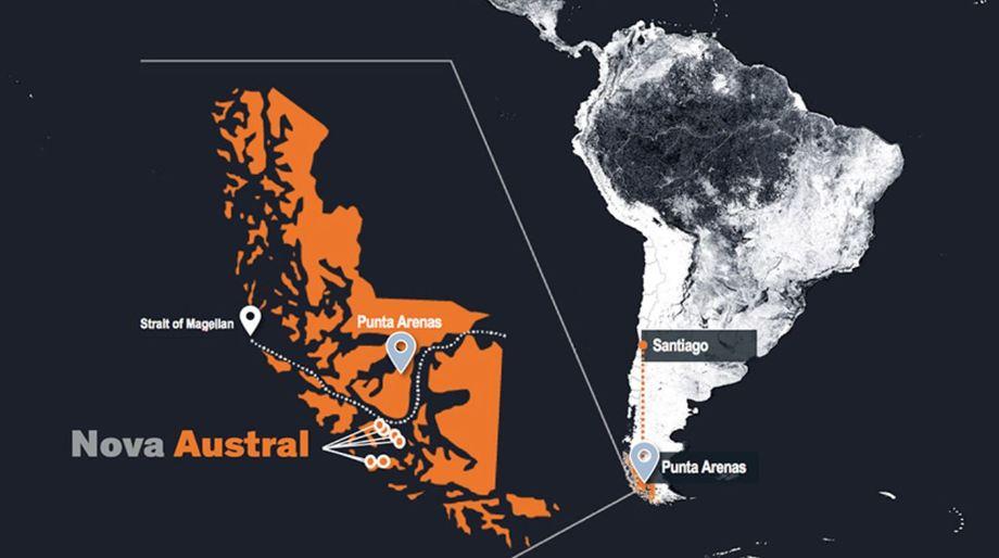 Nova Austral's marketing emphasis its location,