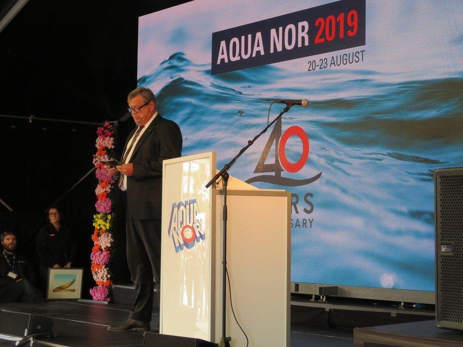 <p>Ministro de Pesca de Noruega, Harald Tom Nesvik.</p>