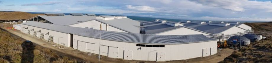 Nova Austral's smolt plant is reported to be 90% complete. Photo: Nova Austral.