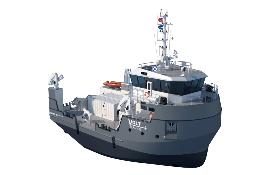 Damen's 2613-model aquaculture support vessel is being offered in Norway and Scotland. Image: Damen.