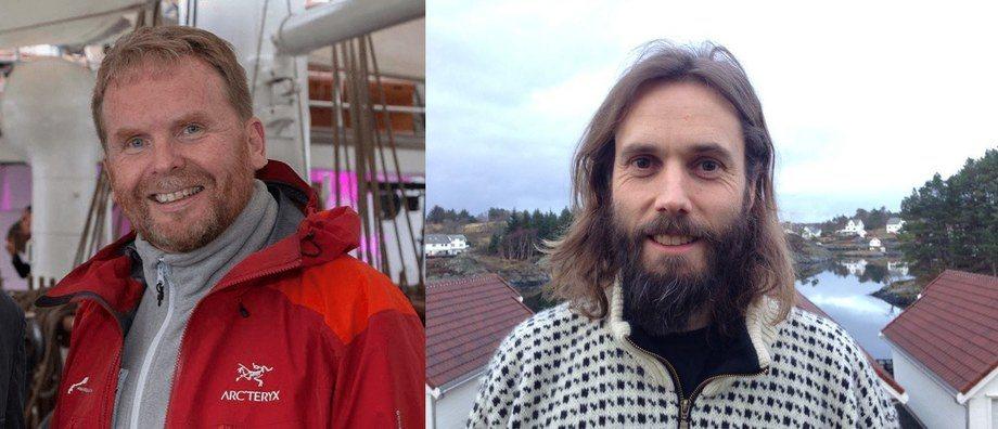 Rolf Mork-Knudsen i Annerledeslandet og Vidar Onarheim i HavExpo. Foto: Privat.