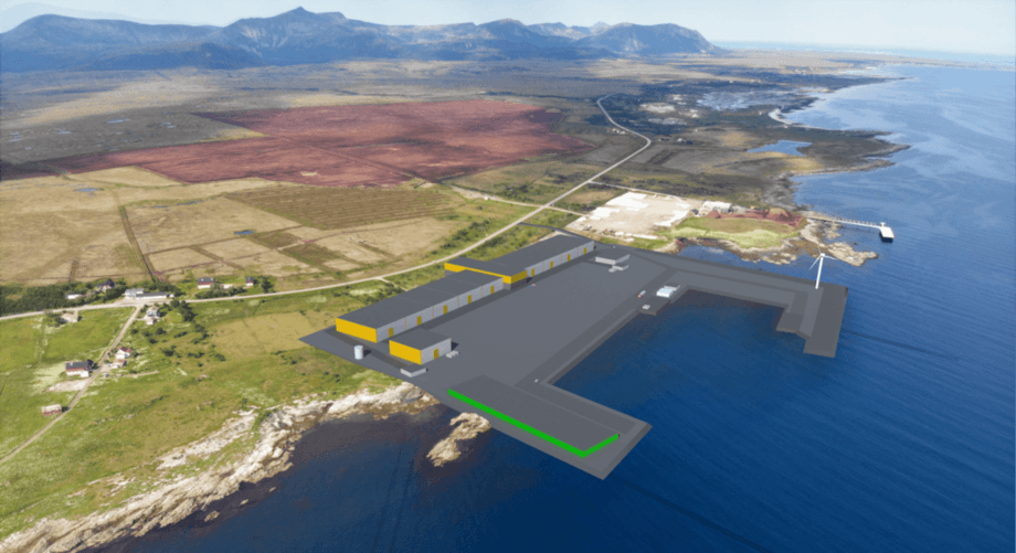 An approximate image of how the plant will look when completed. Graphic: Andfjord.