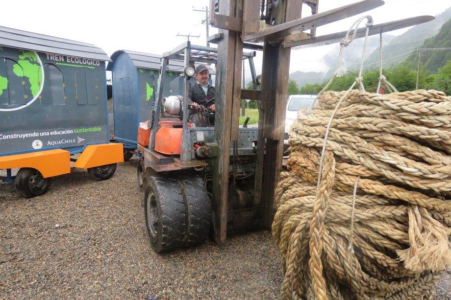Christian Martino es un constante impulsor del reciclaje en la región de Aysén. Foto: Jonathan Garcés, Salmonexpert.