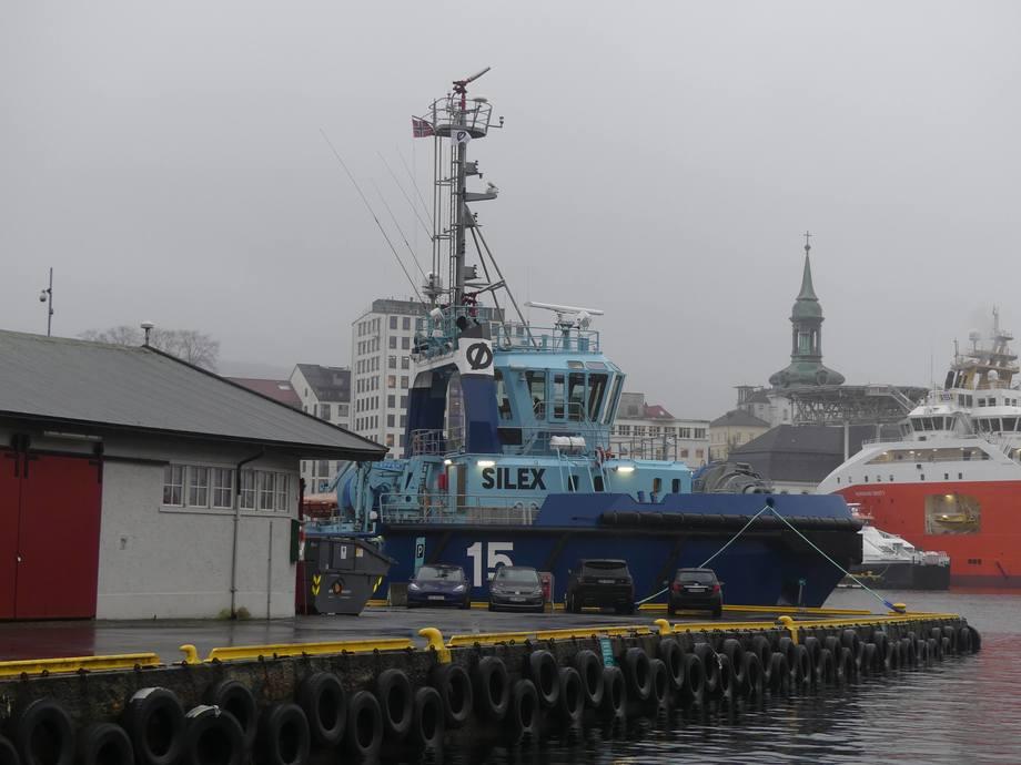 <p>MS «Silex» er en taubåt, og er 35,11 meter lang og10,8 meter bred. Foto: Margarita Savinova.</p>