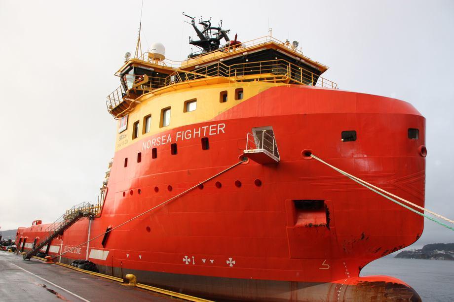 <p>MV «Norsea Fighter» er en 73,9 meter lang og 18meter bred supplybåt. Foto: Margarita Savinova</p>