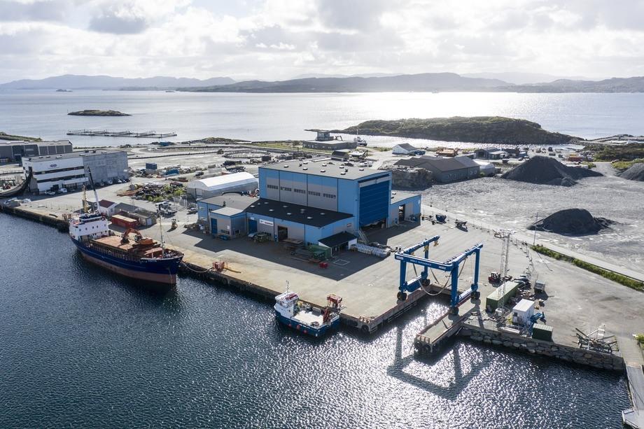 Bømlo Skipsservice holder i dag til i Langevåg på Bømlo. Foto: Bømlo Skipsservice.