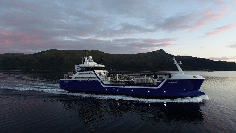 Brønnbåten «Ro Venture» er søsterskipet til «Ro Vision». Foto: Larsnes Mek. Verksted