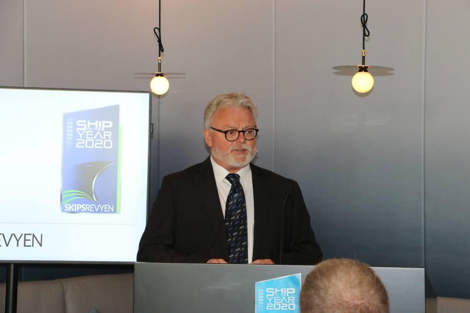 <p>Juryleder og sjefredaktør i Skipsrevyen, Gustav-Erik Blaalid.Foto: Helge Martin Markussen</p>