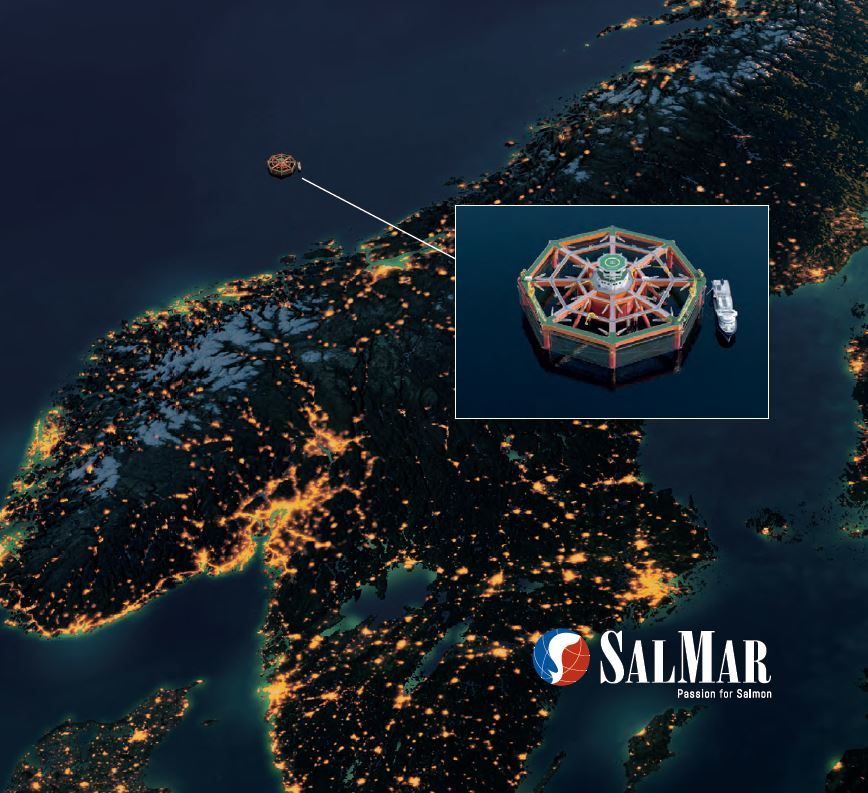 An image from the cover of SalMar's application gives some idea of how far off the coast the SFF would be located. Image: SalMar.