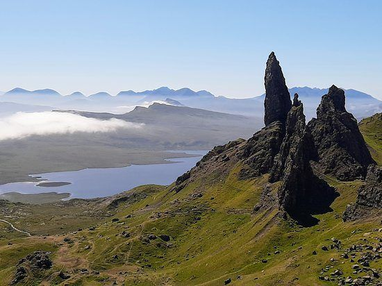 OSH's farms can be seen from the Old Man of Storr, but that doesn't put off tourists, says Alister MacKinnon. Photo: Tripadvisor.