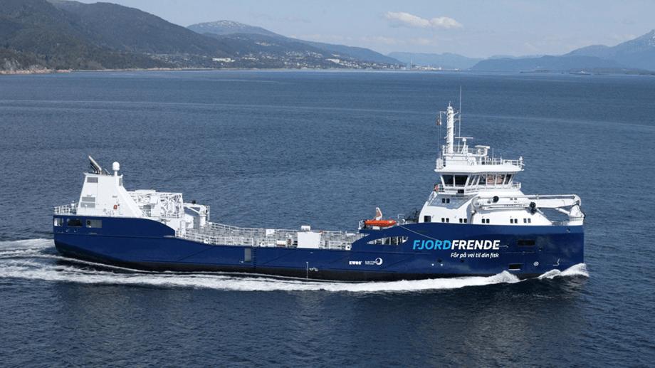 Fjordfrende: Rederiet Eidsvaag samkjører frakten av fiskefôr langs norskekysten for både Skretting og Cargill, og på den måten reduseres klimagassutslippene tilsvarende 7500 biler i et helt år.