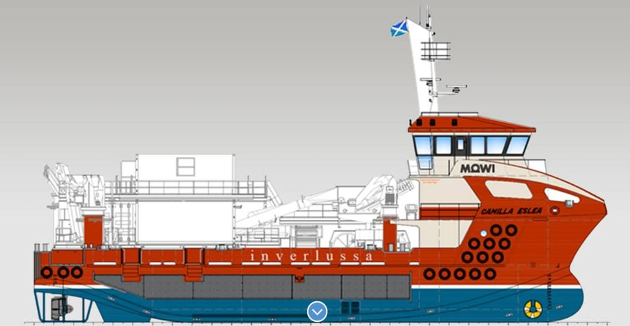 Illustration of the Camilla Eslea, which will have the world's biggest Thermolicer on board. Image: Inverlussa Marine Services.