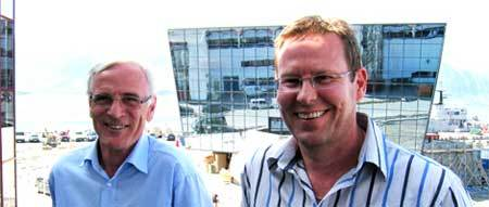 Mr. Øyvind Sævik (left) and Kenneth Pettersen, COO  Havyard Group AS and Chairman in Havyard Ship Services AS