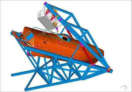 Schat-Harding's new generation FF1200 freefall boat and davit