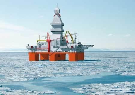 Gazflot i isen
