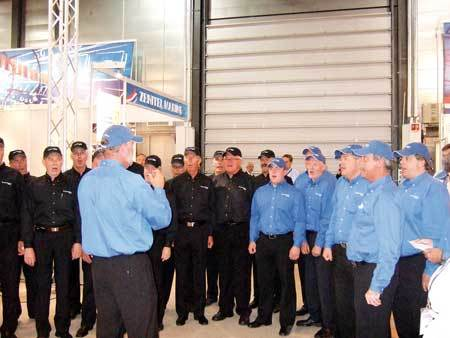 Trial users have responded to WeatherNav's benefits with a chorus of praise. Here the Jeppesen chorus at Nor-Shipping 2007.