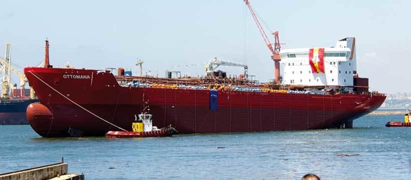 Etter sjøsettingen av M/T Ottomana, ca. 27.000 dwt, ved Celik Tekne shipyard, da den største kjemikalietankeren bygget i Tyrkia. (celiktekne.com.tr)