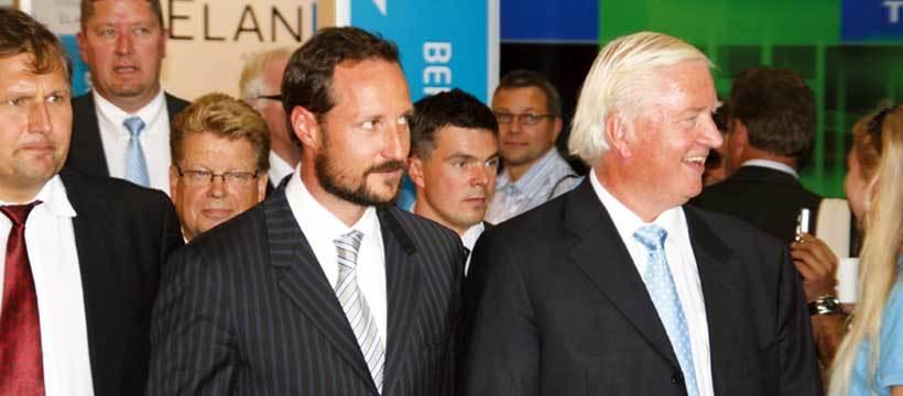 HKH Kronprins Haakon på ONS 2008. Til v. Olje- og Energiminister Terje Riis-Johansen og ONS' Kjell Ursin-Smith. Foto: ONS