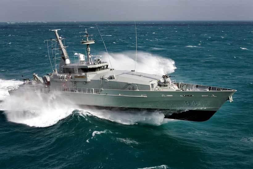 RAN Armidale-class OPV equipped with Vestdavit PLAR-4500 davits