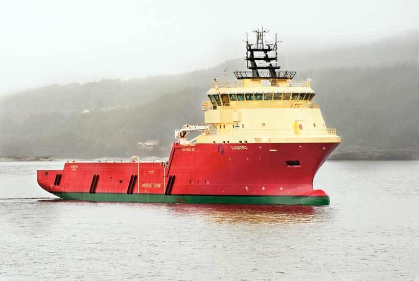 """M/S """"Sjoborg"""" av Havyard 833 PSV design."""