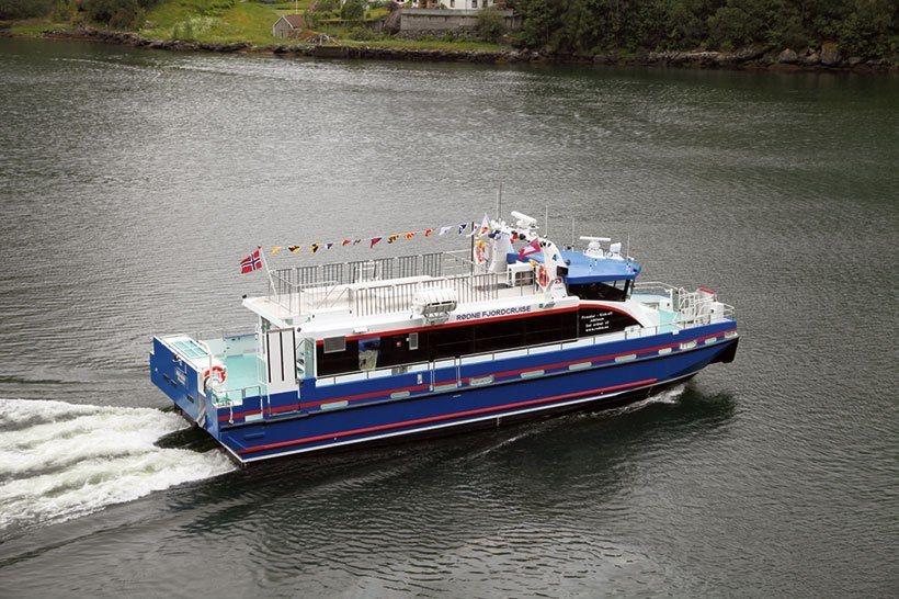 MS «Rygerøy» er solgt fra Rødne Trafikk AS til Florø Skyssbåt. I desember vil hun få nytt navn. Arkivfoto: Brødene Aa