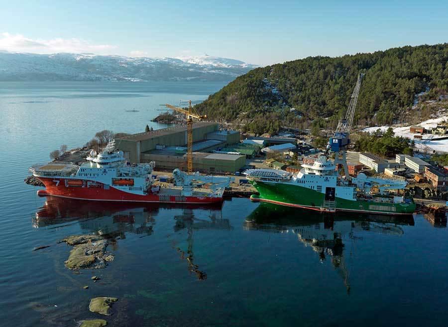 Havyard Ship Technology AS opplever store økonomiske utfordringer, og er nå i gang med å analysere konsekvensene tapet av egenkapitalen vil  ha for hele konsernet. Foto: Havyard Group ASA.