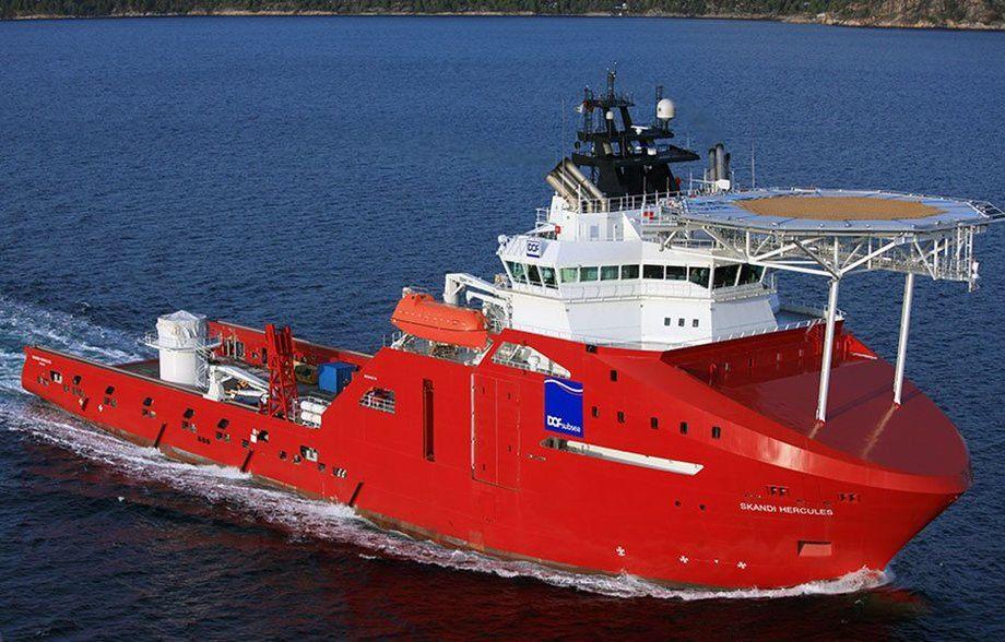 Båten «Skandi Hercules» starter sitt arbeid for en stor operatør i desember 2019. Arkivfoto: Dof.