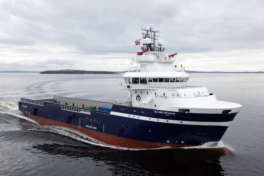 Bildet viser tidligere Island Offshore-skip bygget ved VARD Brevik.