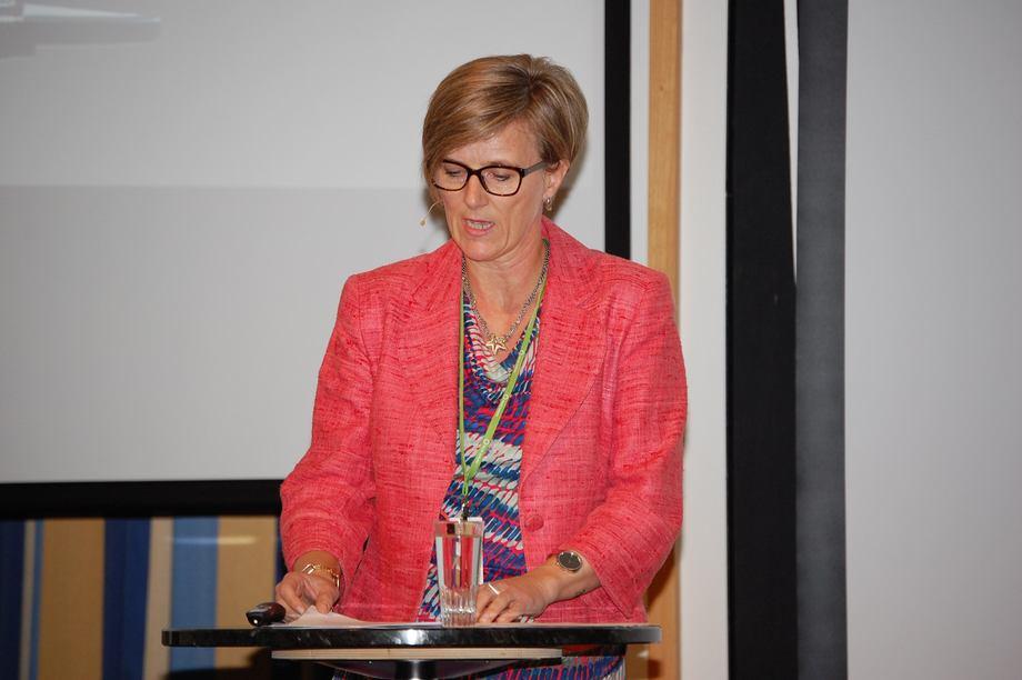 Kjersti Kleven åpnet Verftskonferansen i Ålesund (Foto: Vibeke Blich)