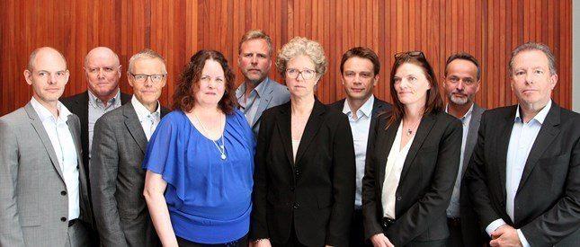 Det nye styret. Foto: Norsk Industri