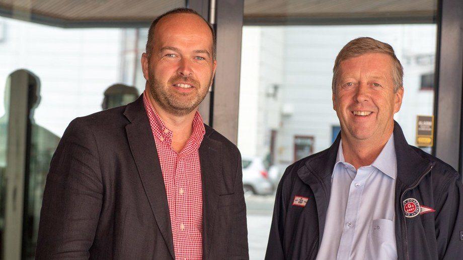 Optimister: Roar Stenersen og Leif Gjelseth fra Havyard MMC ser mange muligheter framover. Foto: Siv Nærø