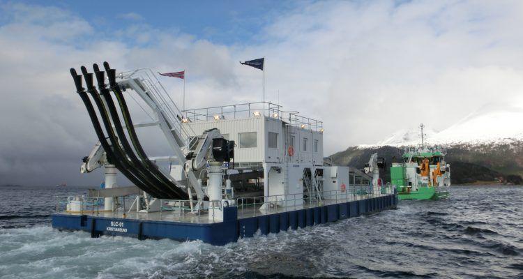 Flåte av typen SLC-1 er bygget ved Vaagland Båtbyggeri AS og driftes av Vamar AS. Foto: Vamar AS