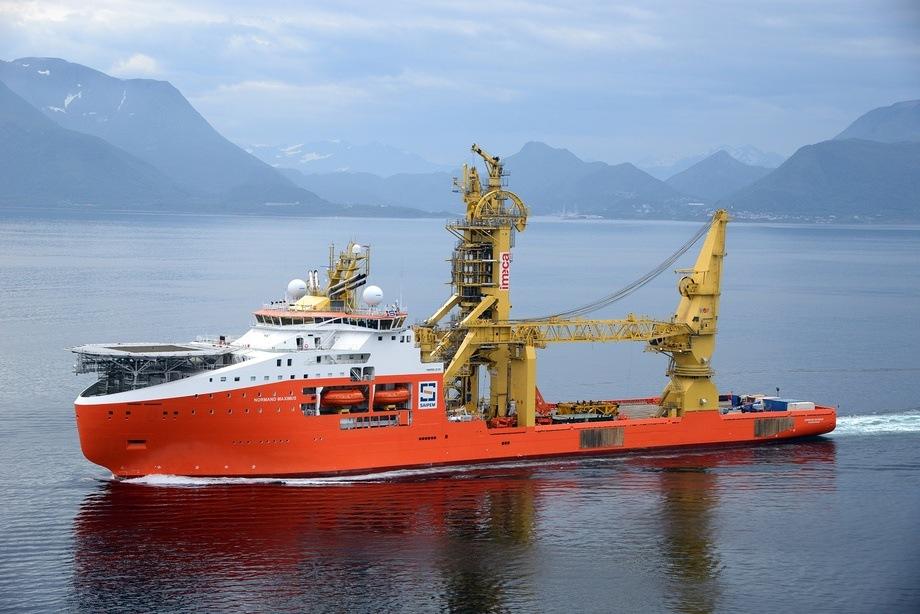 M/S «Normand Maximus» - det hittil største offshore skip levert fra et norsk verft. Foto: Harald Valderhaug