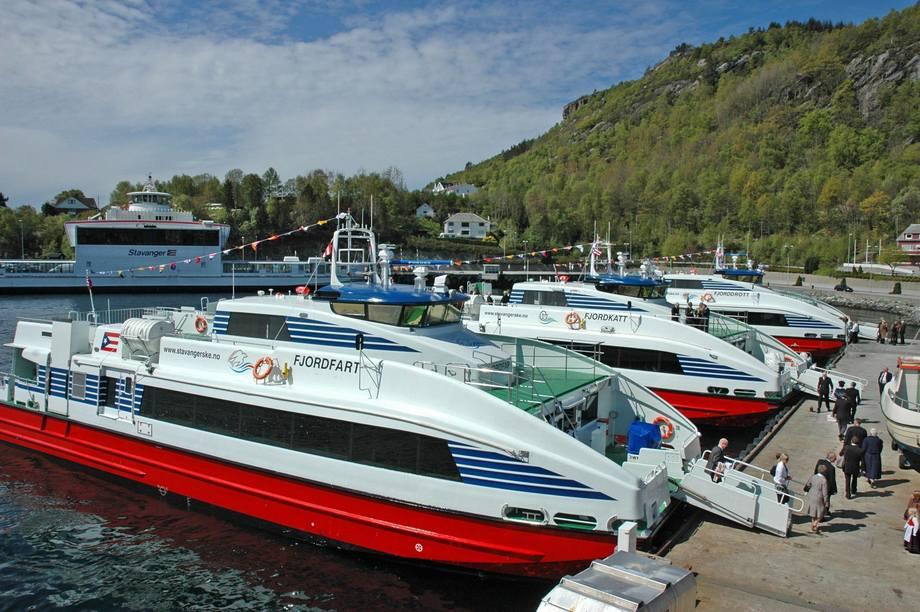 Hurtigbåtene i Ryfylke vant Innovasjonsprisen for universell utforming, kategori transport, i 2011. Rederiet Brødrene Aa har brukt suksessen til å få fotfeste i blant annet Kina. Bildet er fra 2011.  Foto: Arne Søllesvik