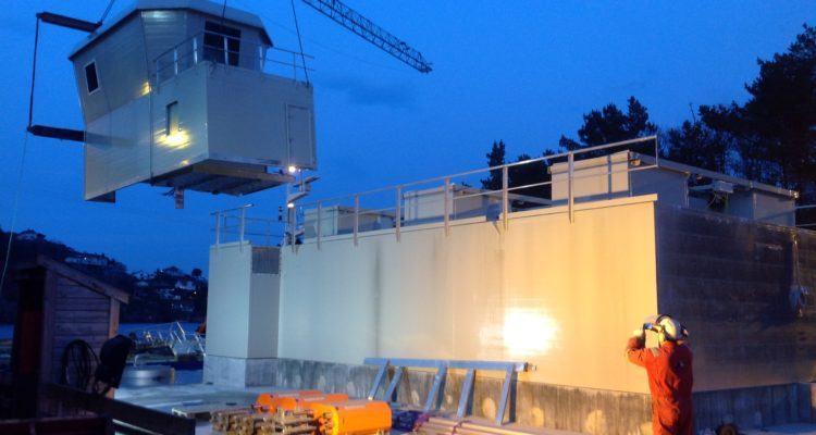 SI Aluminiu leverer aluminiums-løsninger til havbruksnæringen. Her er bilde av et av de tidligere prosjektene deres. Foto: SI Aluminium