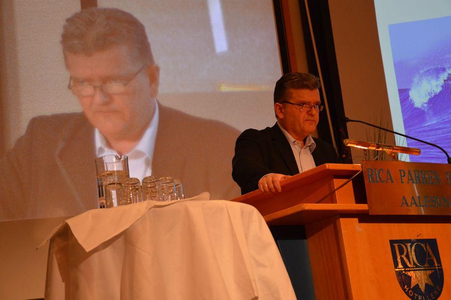 Gunnar Domstein, leder av FHL, årsmøtet i 2013