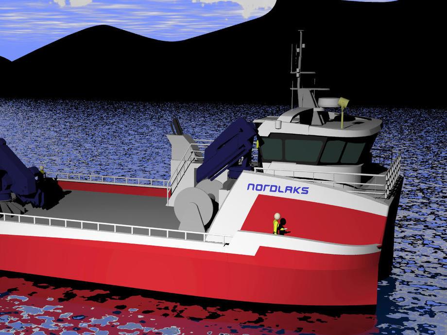 Grovfjord mekaniske verksted, katamaran, prototype, båt.