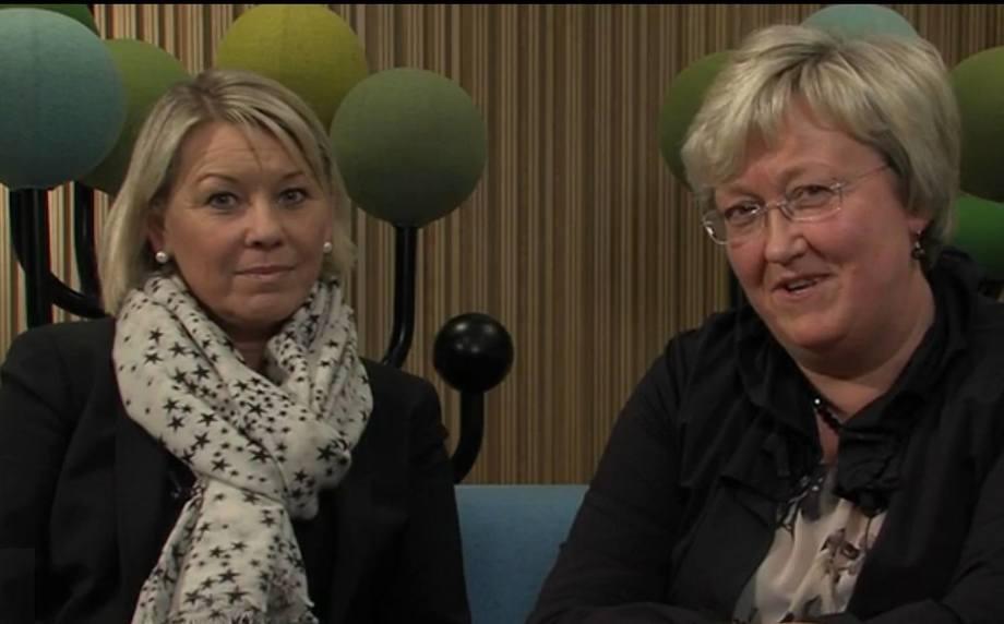 Monica Mæland og Elisabeth Aspaker