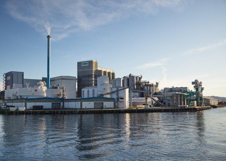 Ewos fabrikken i Florø, tilhøyrande Cargill. Foto: Ewos.