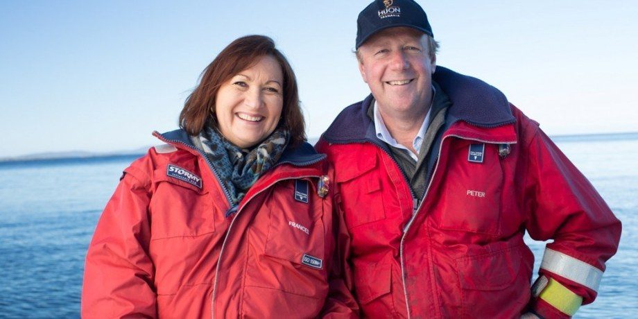 Huon co-founders Frances and Peter Bender have seen volumes increase by 48% in the last first half of the 2020 financial year.