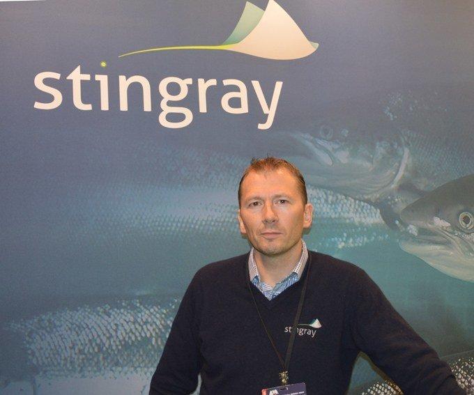 John Arne Breivik lanserer Stingray i Skottland.