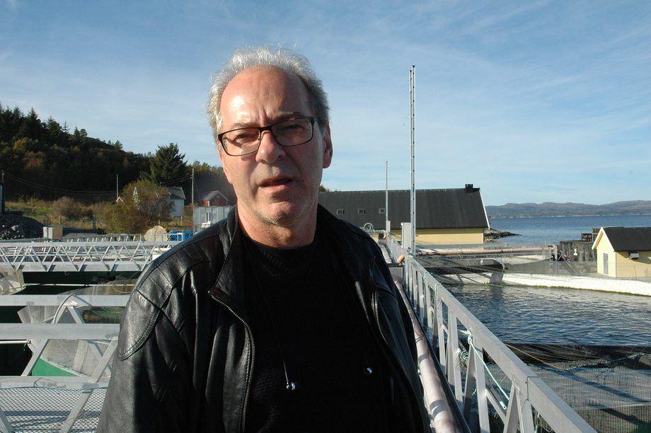 Daglig leder i Njord Salmon, Finn Christian Skjennum sier han er fornøyd med selskapets årsregnskap for 2017. Foto: Gustav-Erik Blaalid, Kyst.no.