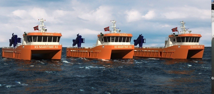 Illustrasjonsbildet viser en fartøygruppe som egner seg godt til elektrisk fremndrift. Dette er farøy bygget av FMV for KB maritime josdal. Foto: FMV