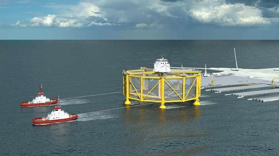 Offshoremerden vil koste Salmar hele en milliard kroner. Foto: Salmar Ocean Farming.