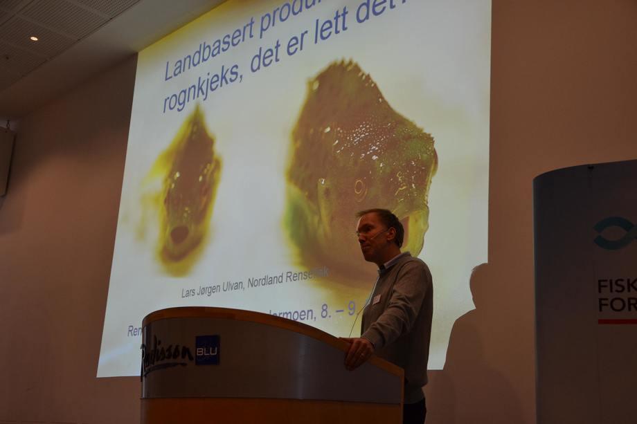 Lars Jørgen Ulvan fra Nordland Rensefisk under rensefisk-konferansen 2016. Foto: Linn Therese Skår Hosteland